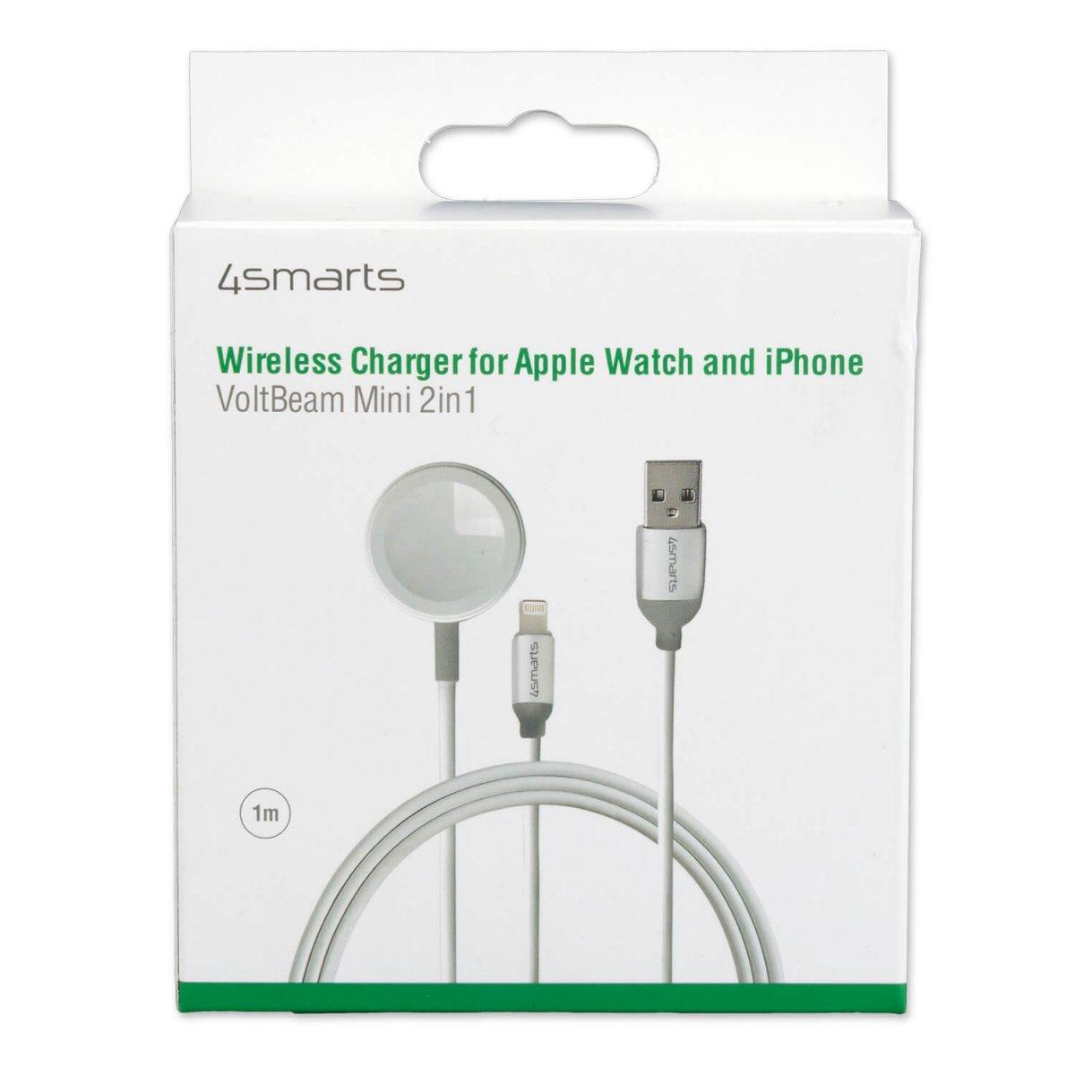 4Smarts Trådlös laddare VoltBeam Mini 2in1 för Apple Watch och iPhone